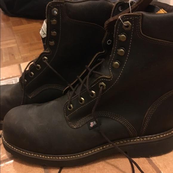 8b1b870f35d ***SOLD***Men's BRAND NEW Justin JMax Steel Toe NWT