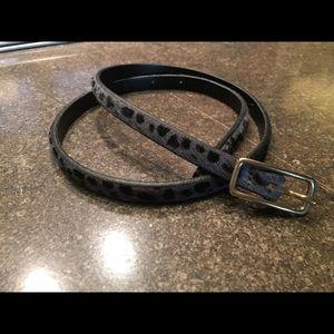 J. Crew skinny calf hair belt