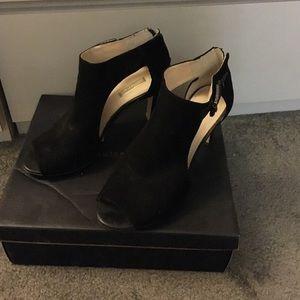 Beautiful black suede heels.