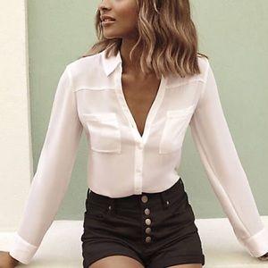 Express Tops - Express Slim Fit Portofino ~ White