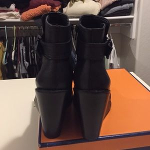 4c0d7f77e37b Arturo Chiang Shoes - Black wedge booties  REDUCTION