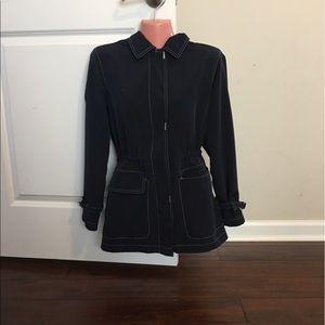 Talbots anorak jacket navy petite small