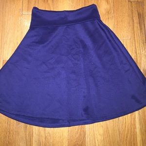 Navy Blue Fold Over Circle Skirt