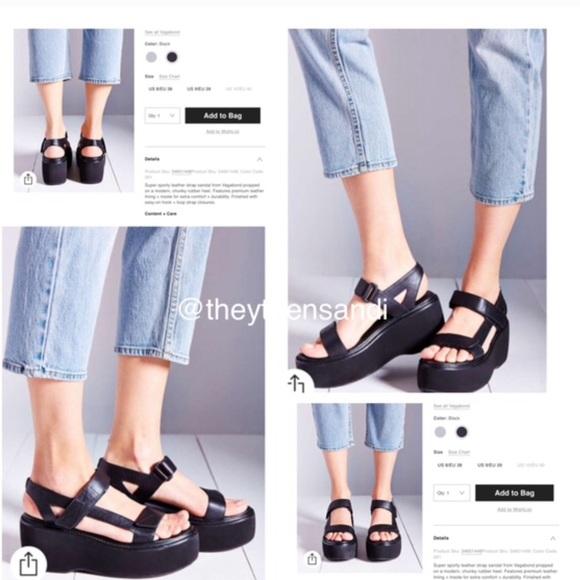5894703c0ac5 Urban Outfitters Vagabond Black Platform Sandals