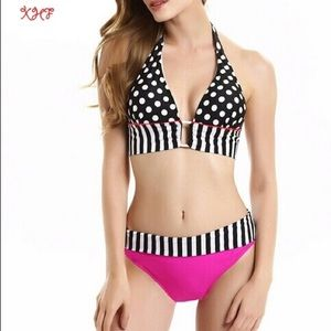 Other - swimsuit women push up 2017 Women Sexy Stripe Retr