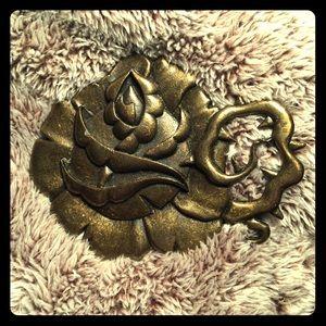 Ed Hardy Accessories - Rose Tattoo Belt Buckle