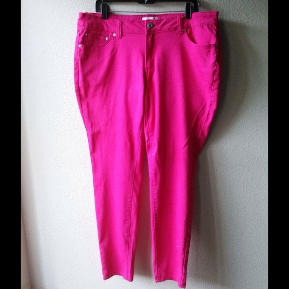 unparalleled 100% genuine great look F21 plus size hot pink skinny jeans size 16