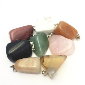 Pack Of 8: Variety Of Gemstone Pendants