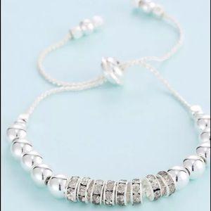 Jewelry - 💜💜💜Silver Adjustable Beaded Bracelet 💜💜💜