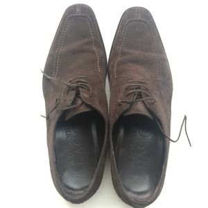 A. Testoni Shoes - A. Testoni Chocolate Brown Suede Derby shoes
