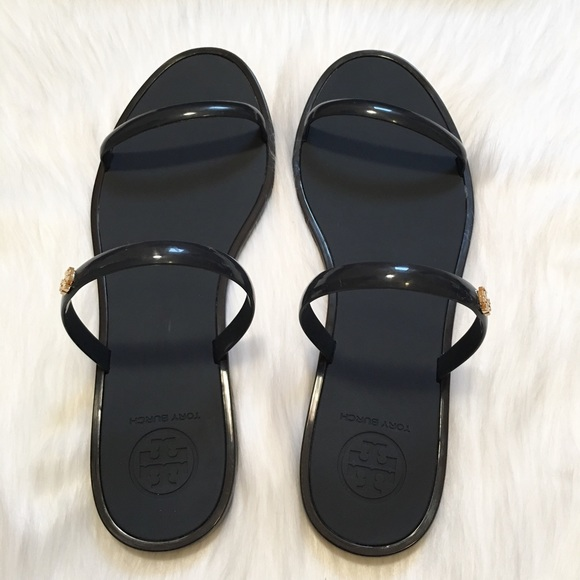 03de67a1586b96 NEW Tory Burch Two Strap Jelly Slide Sandals!