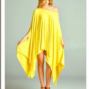 FashionBohoLoco Tops - Oversized Cape Tunic T Shirt Slip Dress NWOT