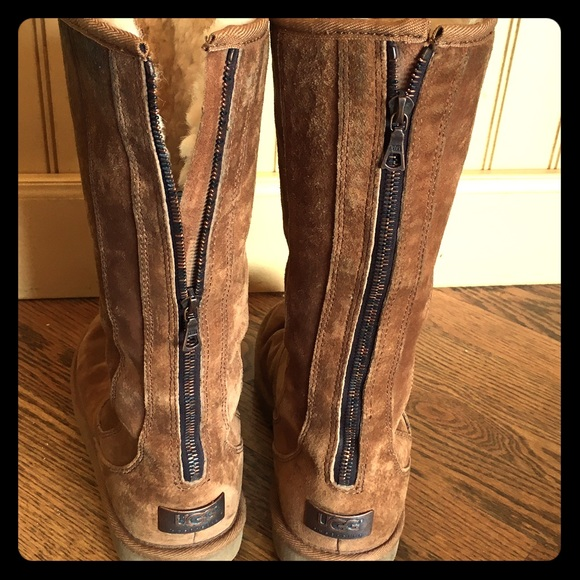 classic tall ugg boots with zipper
