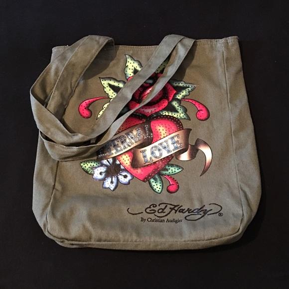 0e0eb330e0 Ed Hardy Handbags - ED HARDY CANVAS TOTE