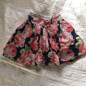 Abercrombie floral mini skater skirt
