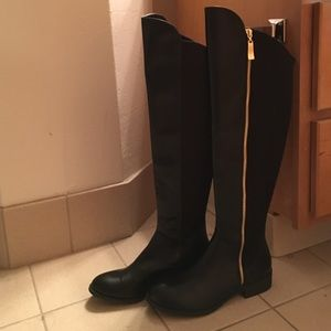 Christian Siriano Shoes - Christian Siriano over the knee black boots