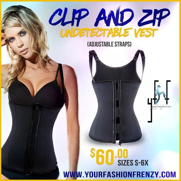 ebc762f0ca576 Zip and Clip Waist Trainer Shapewear Vest S-6X