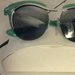 Lime Vintage Authentic Prada Cats Eye Glasses
