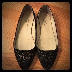 Anniel Shoes - Black Anniel flats with gold fleck accenting