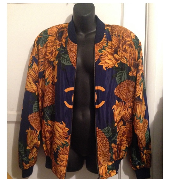 42% off CHANEL Jackets & Blazers - Chanel Vintage Bomber Jacket ...