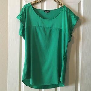 Express Tops - Green Express dressy short sleeve blouse