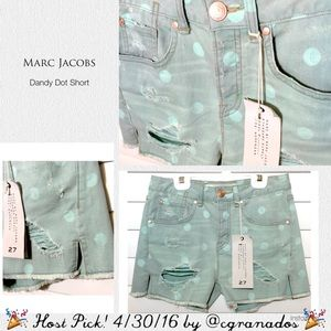 Marc Jacobs Pants - 🎉HP🎉 BOGO Marc Jacobs Dot Distressed Jean Shorts