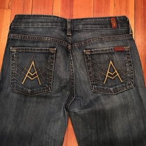 """""""A"""" Pocket 7 For All Mankind jeans."""