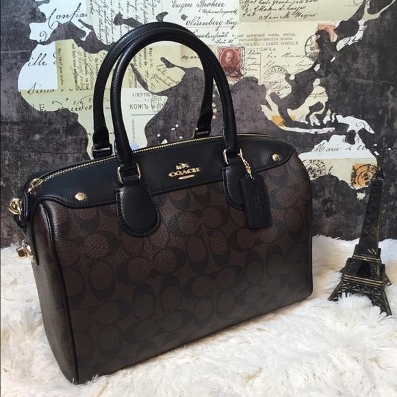 238a8db862 SALE 🎉 Coach Large Signature Bennett Satchel Bag