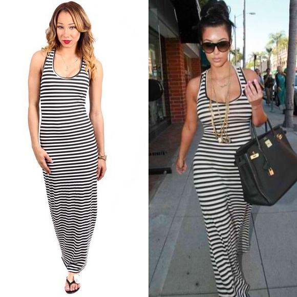 f0e4be241e Dresses   Skirts - Striped Bodycon Maxi Dress