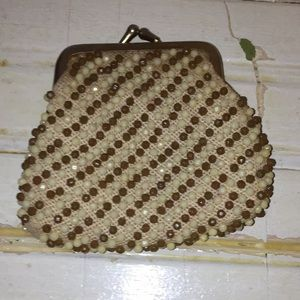 Vintage beaded change purse