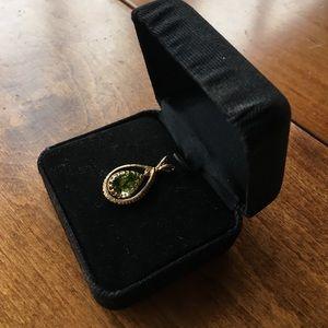 Jewelry - Peridot Pendant Gold Plated