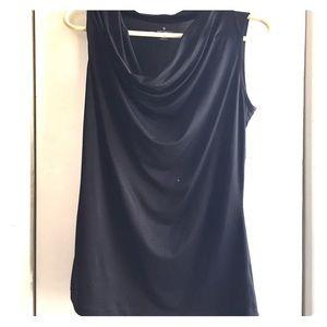 Worthington Tops - Black cowl neck tank