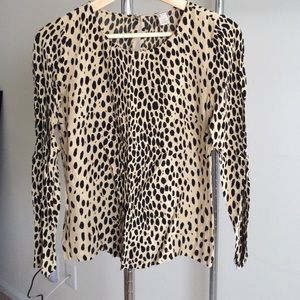 J. Crew Tops - Excellent Condition J. Crew Leopard Print Top