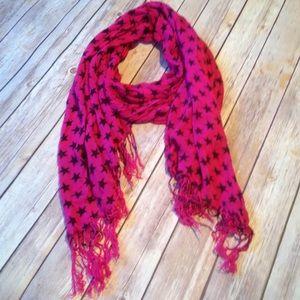 Accessories - EUC Pashmina Style Scarf Star Print Wrap