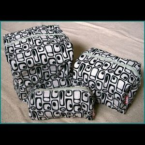 O.R.E. Originals Bags - Three piece retro print travel set