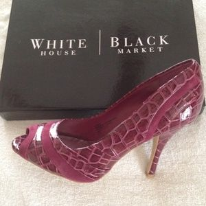 ⭐New WHBM open toe pumps size 8.5