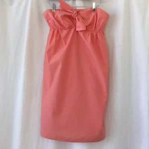 J Crew tie front strapless dress