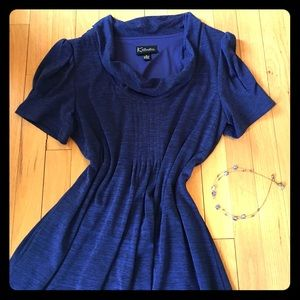 NWOT Cowl-neck Short-sleeve Dress
