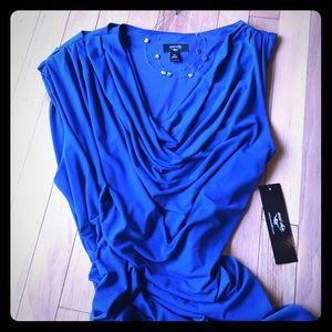 NWT Draped Asymmetrical Party Dress