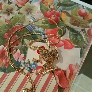 Betsey Johnson  Jewelry - BETSEY JOHNSON FROG NECKLACE