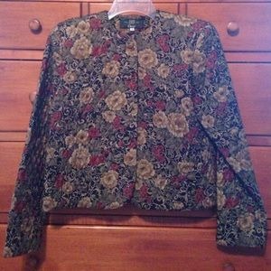 Orvis Jackets & Blazers - Orvis sz 6 quilted jacket with floral design