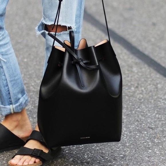 Mini Leather Bucket Bag - Black Mansur Gavriel 0fYjvNY