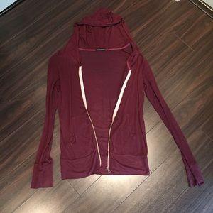 Rare Brandy Melville maroon zip up sweater