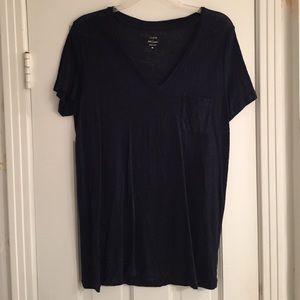 Jcrew linen vneck shirt