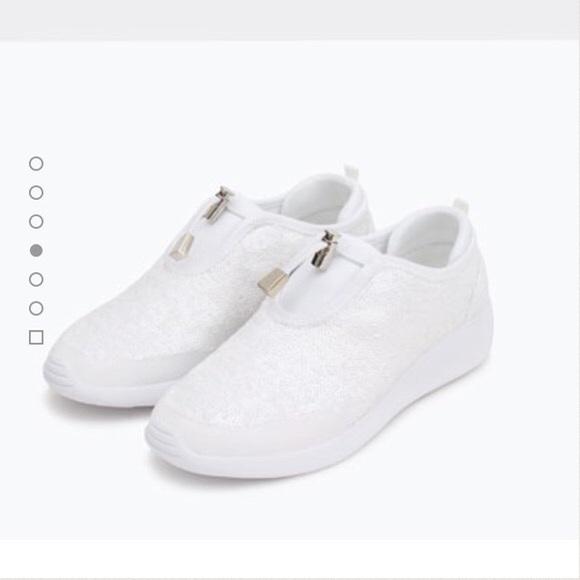Zara Shoes | Zara White Sneakers | Poshmark