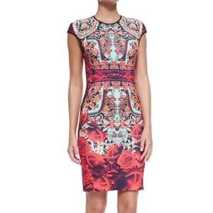 Clover canyon rose matador cap sleeve dress