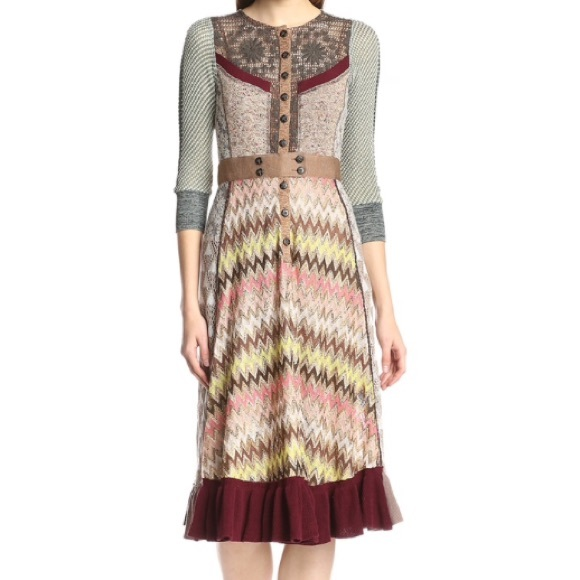 ee222a52c9401 Anthropologie Dresses | Byron Lars For Beauty Mark Multi Pattern ...