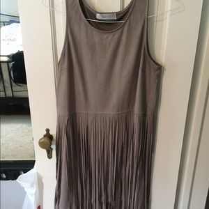 Faux suede fringed dress by bacio size M