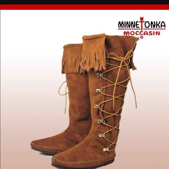 51 minnetonka shoes knee high minnetonka moccasins