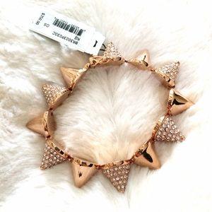 Eddie Borgo Jewelry - Eddie Borgo rose gold and crystal cone bracelet